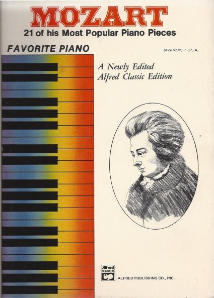 MOZART -- 21 of his most popular Piano Pieces (Favorite Piano), MOZART