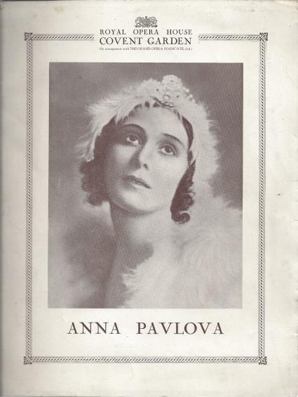 Anna Pavlova Royal Opera House Program, N/A