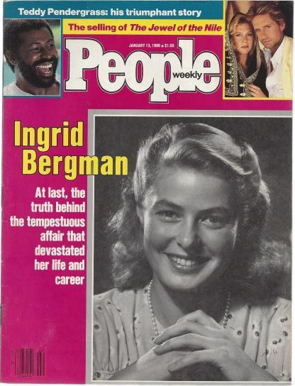 People Weekly Magazine January 13, 1986 Ingrid Bergman on Cover, Henry Anatole Grunwald [Editor]