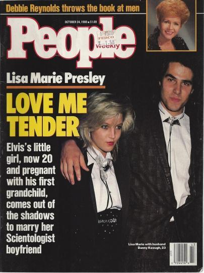 People Magazine October 24, 1988 Lisa Marie Presley LOVE ME TENDER, Jason McManus [Editor]