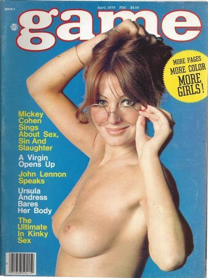 "Game Busty Adult Magazine ""A Virgin Opens Up"" April 1976, game"