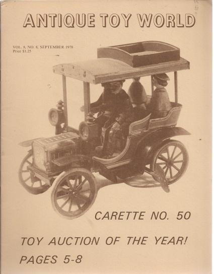 Antique Toy World 4 Volume Set September-December 1978, N/A