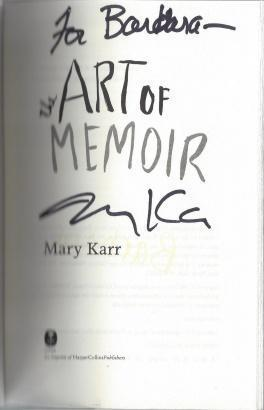 The Art of Memoir, Karr, Mary