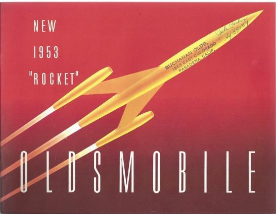 "Oldsmobile New 1953 ""Rocket Sales Brochure and Sales Foldout Set, N/A"