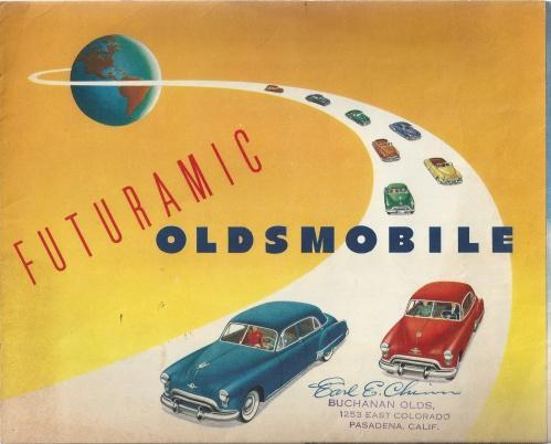 1949 Oldsmobile Sales Brochure Literature Book Piece Advertisement Options Specs