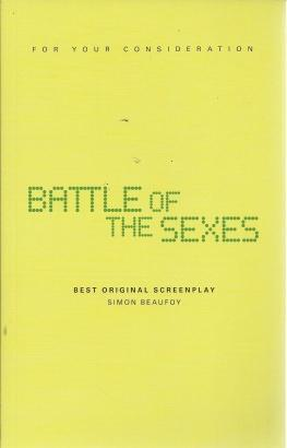 Battle Of The Sexes (screenplay), Simon Beaufoy