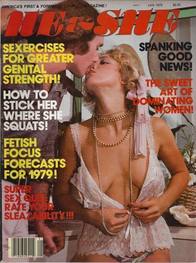 "He & She Men's Magazine ""Naughty Marrietta"" ""Lezzie X-mass Tree"" Vol 5 No 1 January 1979, He & She Pub."