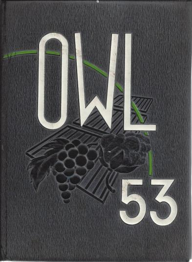 Fresno High School Yearbook 1953 Fresno CA Owl