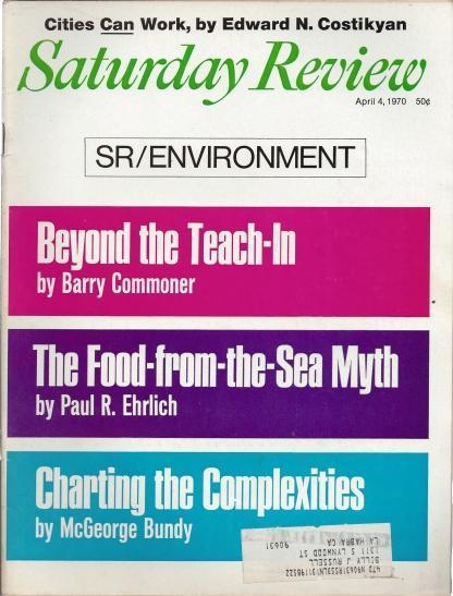Saturday Review, 4 Issue Set, April 1970, N/A