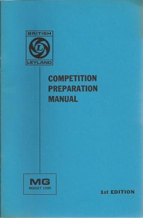 MG Midget 1500 Competition Preparation Manual, Mike Barratt