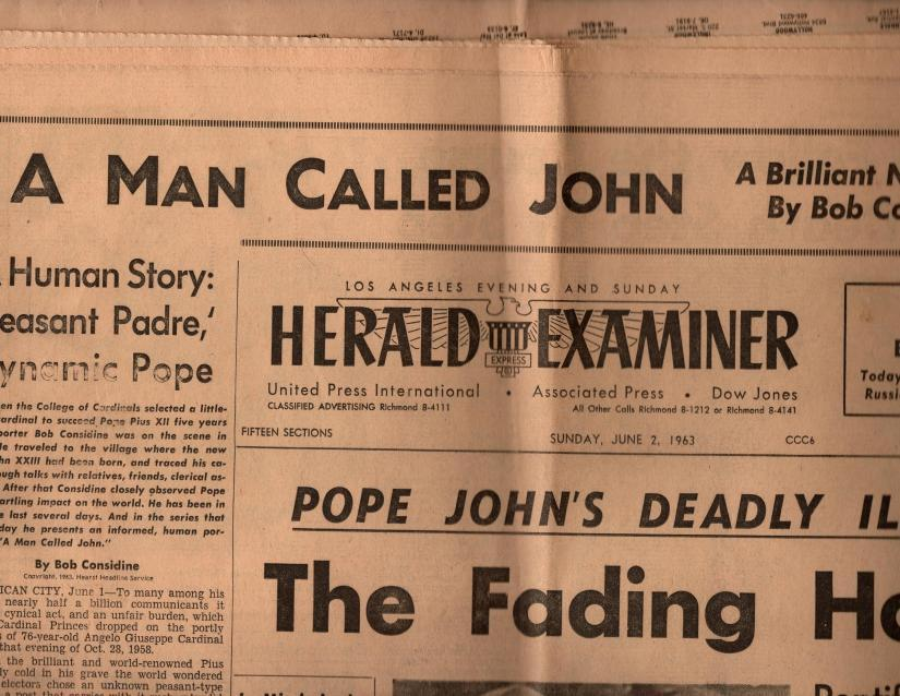 Los Angeles Herald Examiner Sunday, June 2, 1963, Los Angeles Herald Examiner
