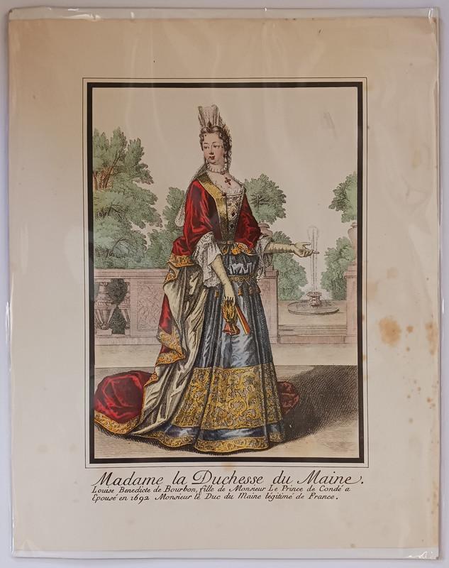 Madame la Duchesse du Maine Color Lithograph, N/A; Louise Benedicte de Bourbon [Illustrator]