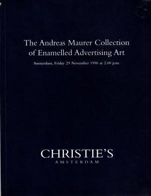 The Andreas Maurer Collection of Enamelled Advertising Art, N/A