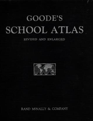 GOODE'S SCHOOL ATLAS PHYSICAL,POLITICAL, AND ECONOMIC~1943, Goode, J. Paul