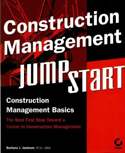 Construction Management JumpStart, Jackson, Barbara J.
