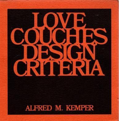 Love couches, design criteria, Kemper, Alfred M