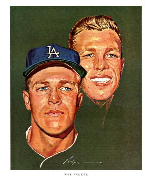 Set Of 1963-1964 Los Angeles Dodgers Player Portraits, Nicholas Volpe (artist)