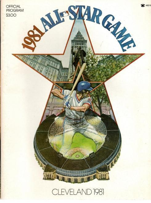 1981 All-Star Game: Cleveland Official Program, N/A