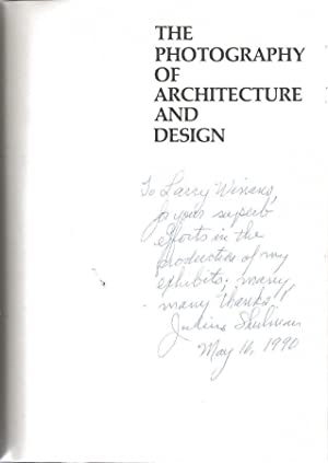 SIGNED* The Photography of Architecture and Design: Julius Shulman