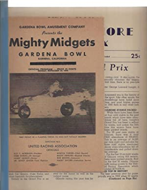 Collection of 2 Racing Programs: Mighty Midgets: n/a