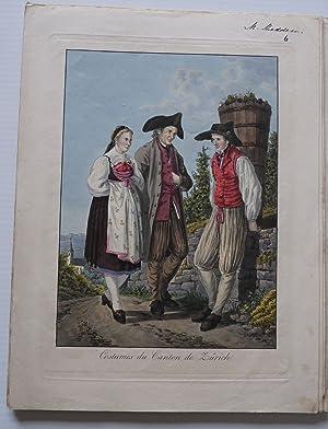 COLLECTION OF SWISS COSTUMES - COSTUMES SUISSES: REINHARDT, JOSEPH -