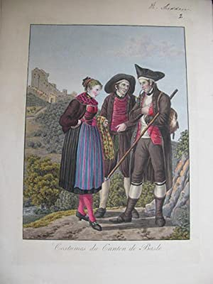 COLLECTION OF SWISS COSTUMES - COSTUMES SUISSES - COLLECTION DE COSTUMES SUISSES DES XXII CANTONS: ...