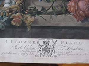 A FLOWER PIECE. IN THE CABINET AT HOUGHTON.: VAN HUYSUM Pinxit. JOSEPH FARRINGRON delin.t. RICHD. ...