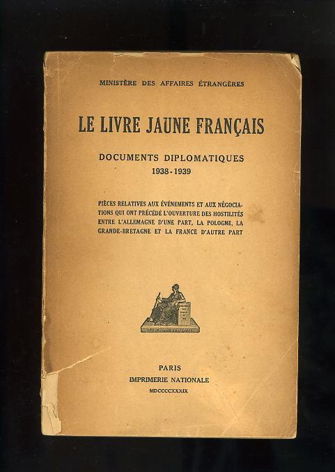 Le Livre Jaune Francais Documents