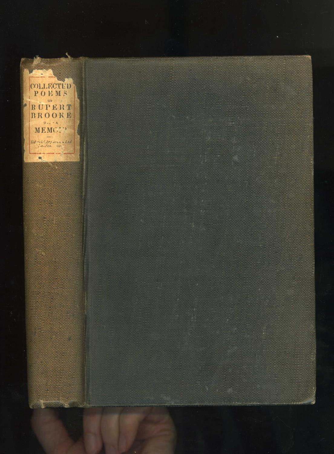 The Collected Poems With A Memoir De Rupert Brooke Sidgwick
