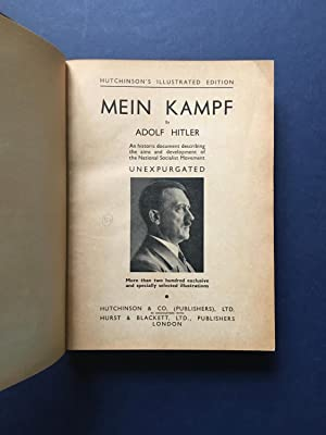 MEIN KAMPF - An historic document describing: Adolf Hitler
