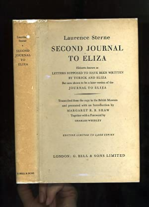 SECOND JOURNAL TO ELIZA - Hitherto known as LETTERS SUPPOSED TO HAVE BEEN WRITTEN BY YORICK AND E...