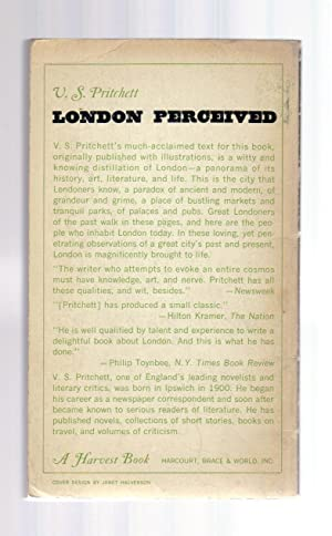 LONDON PERCEIVED [INSCRIBED BY THE AUTHOR]: V. S. Pritchett