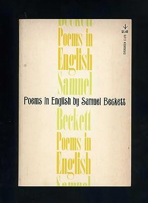 POEMS IN ENGLISH: Samuel Beckett