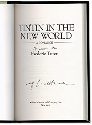 Tintin in the New World: A Romance.: TUTEN, Frederic. Cover