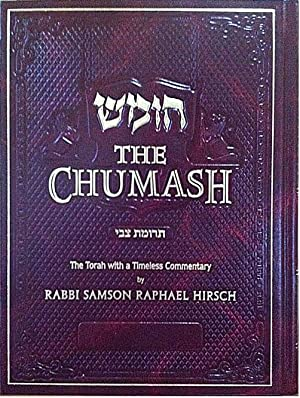 THE CHUMASH (Trumath Tzvi): the Torah with a Timeless Commentary by Rabbi S. R. Hirsch: Rabbi ...
