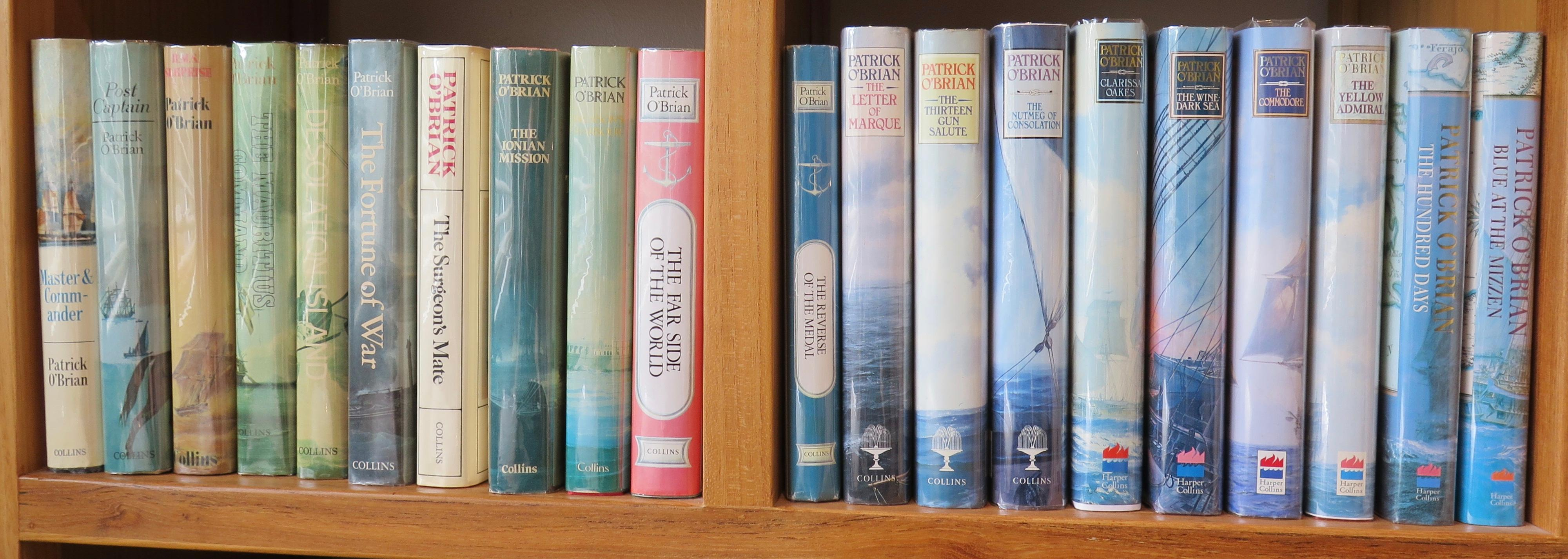 Complete set of Aubery/Maturin Novels.Master and Commander Post Captain HMS Surprise The Mauritius Command Desolation Island Fortune of War The Surge