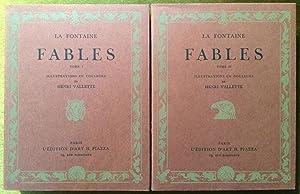 FABLES. ILLUSTRATIONS EN COULEURS DE HENRI VALLETTE.: LA FONTAINE. (JEAN DE. 1621-1695).