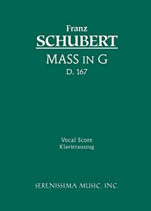 Mass in G major, D.167: Vocal score: Schubert, Franz; Spiro,