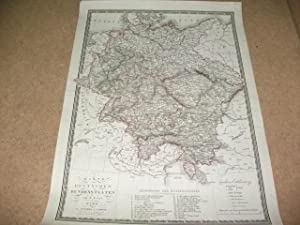 Karte der deutschen Bundesstaten.: Fried, F.
