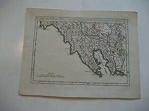 Carte de l'etat de genes ou se trouvent Sestri-diLevante, Spetia, et Sarzana.: Italien