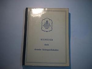 Wegweiser durch deutsche Aktiengesellschaften. Ausgabe 1959.: O.A.