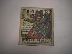 Heute roth - Morgen tot. Deutsche Soldatenlieder in Bildern von Hermann Bek-Gran.
