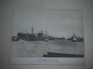 Zur Besetzung der Insel Oesel. Transportflotte vor dem Auslaufen im Heimathafen.: Pressefoto/ ...