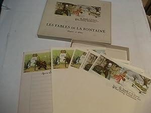 Les fables de la Fontaine Papier a lettre.: Briefpapier f�r Kinder