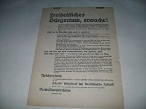 Freiheitliches Bürgertum, erwache!: Anschlagblatt, Verk�ndungsblatt