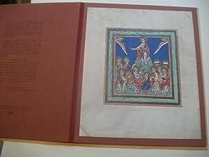aus dem Prachtevangelistar des Benediktinerklosters St. Peter.: Die Bergpredigt Christi