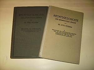 Rechtgeschichte der Böhmischen Länder. In ihren Grundzügen dargestellt.: Peterka, ...