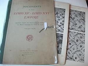 Documents ds styles Louis XV � Louis XVI Empire reproduits d'apres les Soiries de la ...