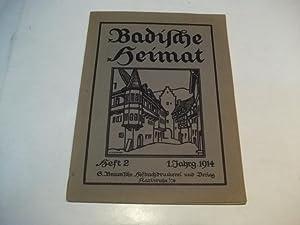 Badische Heimat. Zeitschrift für Volkskunde, ländliche Wohlfahrtspflege, Heimat- und ...