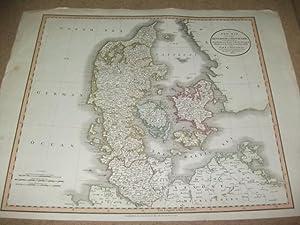 A new map of the Kingdom of Denmark, comprehending North and South Jutland, Zeeland, Fyen, Laaland,...